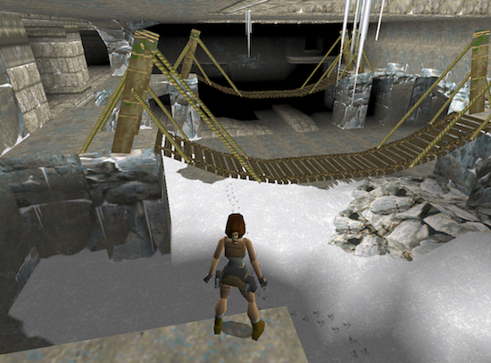 Screenshot eines Tomb Raider-Levels