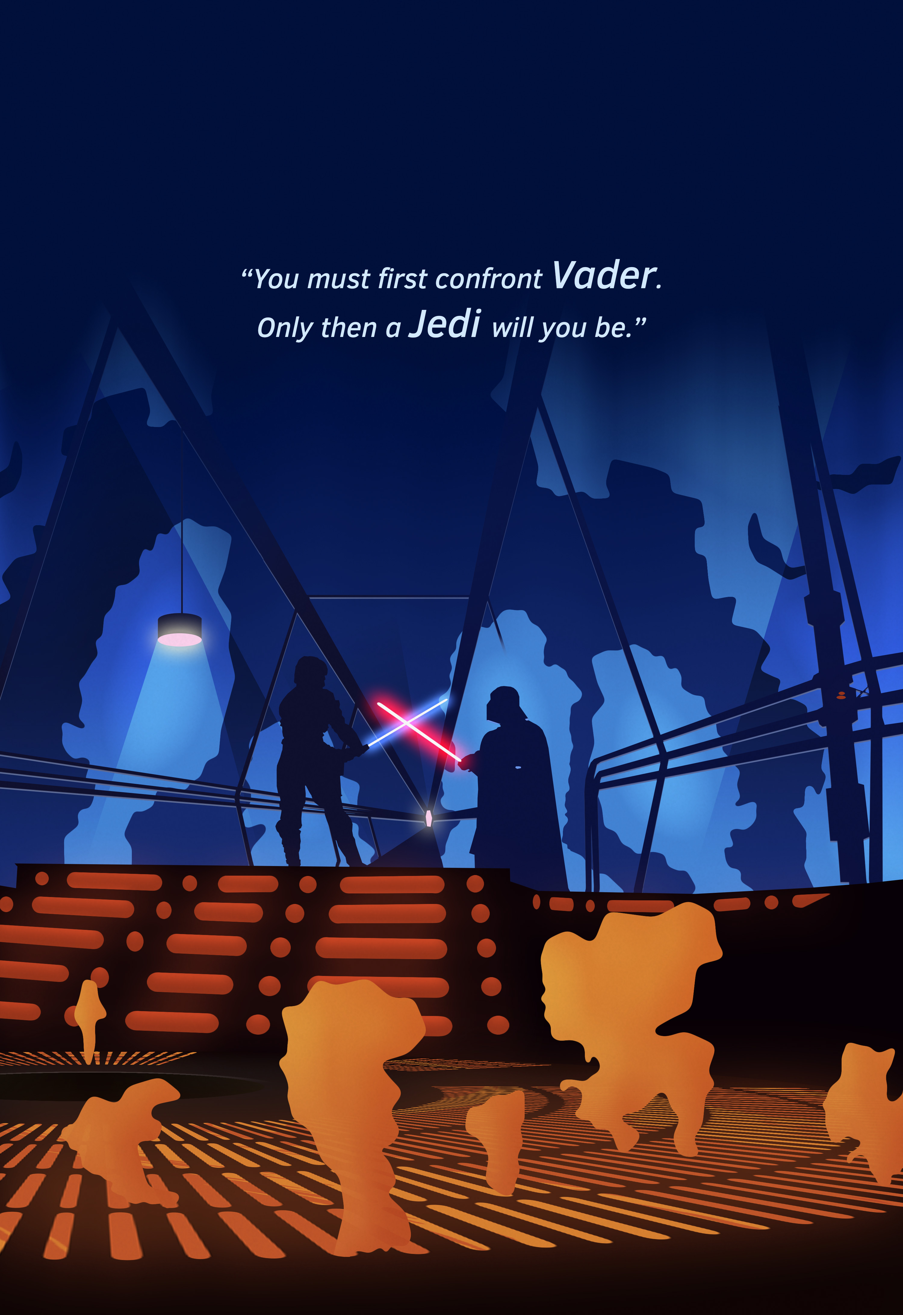 star wars vector art by max melzer